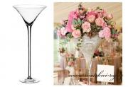 Luxuriöse Vase Martini, Höhe 60 cm