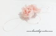 Detail anzeigen - Autoschmuck mit Rosen hellrosa