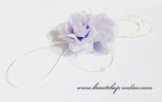 Detail anzeigen - Autoschmuck mit Rosen lila