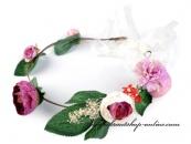 Detail anzeigen - Haarkranz mit Blumen