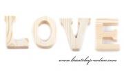 Detail anzeigen - Holzwort LOVE Natur