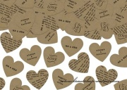 Detail anzeigen - Konfetti im Herzform RUSTIC