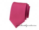 Detail anzeigen - Krawatte in Himbeerefarbe matt