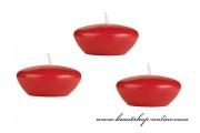 Schwimmende Kerze in rot