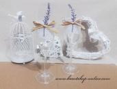 Detail anzeigen - Sektglass mit dem Lavendel