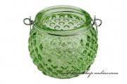 Detail anzeigen - Glasleuchter grün