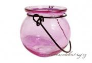 Detail anzeigen - Kerzenleuchter rosa
