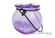 Kerzenleuchter violett