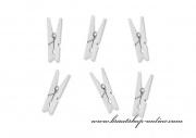 Detail anzeigen - Mini Holzklammern in weiss - 3 cm