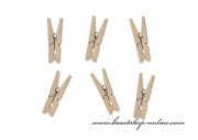 Mini Holzklammern natural - 3 cm
