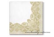 Detail anzeigen - Servietten mit Ornament gold