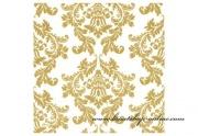 Detail anzeigen - Servietten mit Ornamenten gold