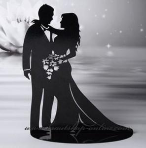 Silhouette Fur Hochzeitstorte