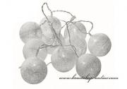 Lichtskette in weiss - 10 Ballons