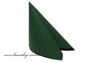 Luxuriöse Servietten dunkelgrün