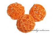 Detail anzeigen - Rattan-Kugel in orange
