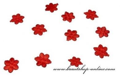 Textilblumen rot