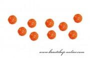 Detail anzeigen - Kleine Rattan-Kugeln in orange