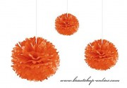 Pom Poms orange, 30 cm Durchmesser