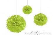 Pom Poms Apfelgrün, 20 cm Durchmesser