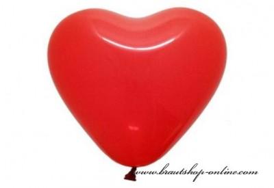 Herzballons rot