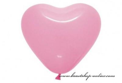 Herzballons rosa