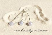 Detail anzeigen - Haarnadel silber mit Perle in blau