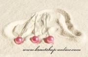 Detail anzeigen - Haarnadel silber mit Perle in rosa