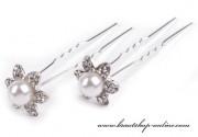 Detail anzeigen - Haarnadel Blume mit Perle
