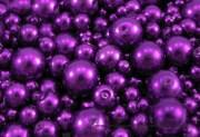 Detail anzeigen - Wachsperlen violett