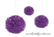 Pom Poms violett, 35 cm Durchmesser