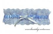 Schönes Strumpfband in blau XL