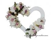 Detail anzeigen - Luxuriöses Herz mit den Blumen
