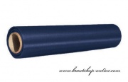 Satinstoff in Rolle navy blue