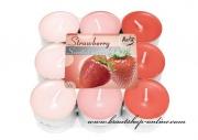 Detail anzeigen - Set von Teekerzen - Strawberry