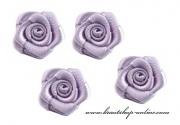 Detail anzeigen - Textilröschen lila