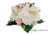 Detail anzeigen - Bouquet mit den Rosen und Callas