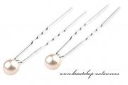Detail anzeigen - Haarnadel mit Perle hellcreme