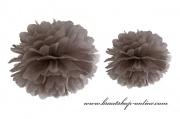 Pom Poms braun, 35 cm Durchmesser