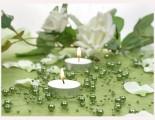 Perlen zur Dekoration in grün