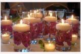 Schwimmende Kerze in lila