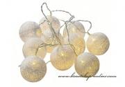 Detail anzeigen - Lichtskette in creme - 10 Ballons