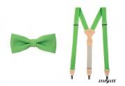 Detail anzeigen - Herrenfliege mit dem Hosenträger grün