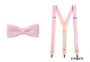Detail anzeigen - Herrenfliege mit dem Hosenträger rosa