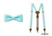 Detail anzeigen - Herrenfliege mit dem Hosenträger mint-blue