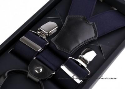 Hosenträger mit Leder, Breite 3,5 cm