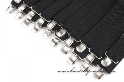 Hosenträger schwarz in Breite 3,5 cm Y
