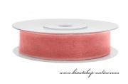 Detail anzeigen - Monofilband rosa-korall, Breite 12 mm