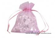 Detail anzeigen - Organzasäckchen in rosa-lila