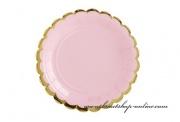Detail anzeigen - Papierteller in rosa
